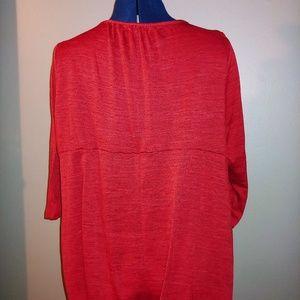 Apt. 9 Tops - Red Embellished Neckline Tee